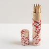 Pencil Tube | Cherry Blossoms | Red