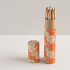Pencil Tube | Blossoms | Orange