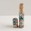 Pencil Tube | Blossoms | Blue and Red