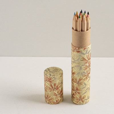 Pencil Tube | Pine Needles On Yellow