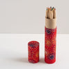 Pencil Tube | Fireworks On Red