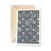 Ivory Card (A6) - blue & white symmetrical pattern, Card, Kami - Kami