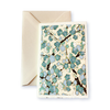 Ivory Card (A6) - 3 shades of blue blossom, Card, Kami - Kami