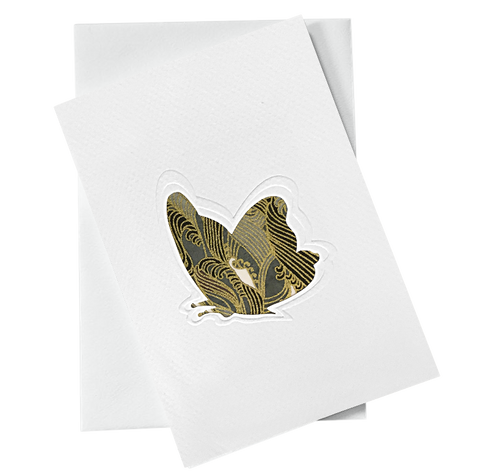 Cut Out Card (A6 - Butterfly_Gold), Card, Kami - Kami