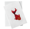 Cut Out Card (A6 - Fish_Red), Card, Kami - Kami