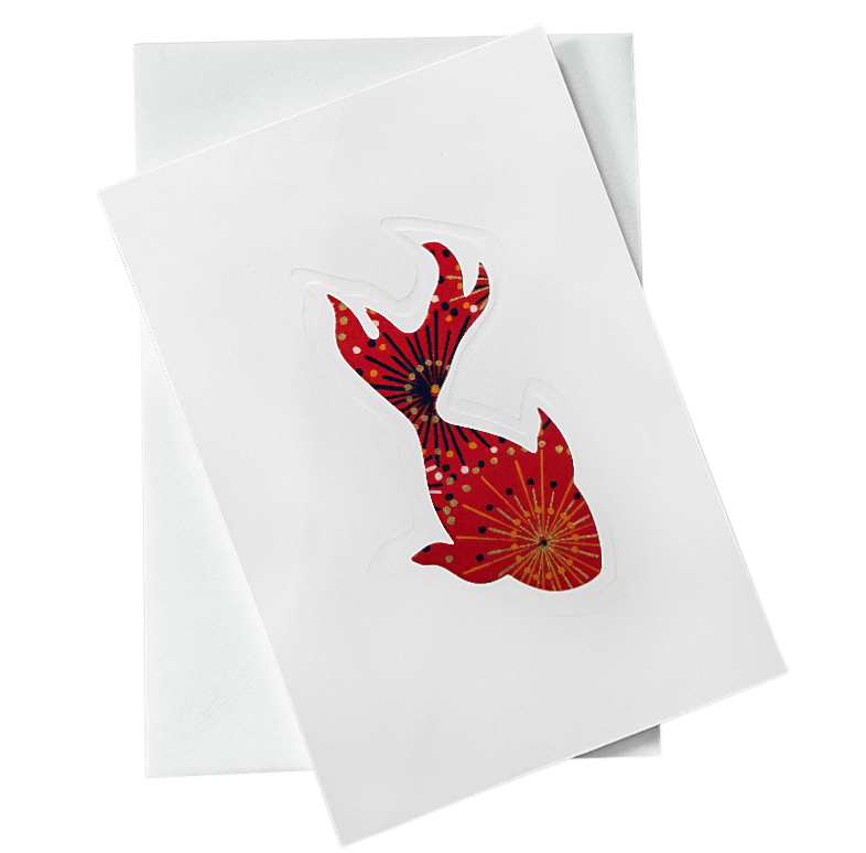 Cut Out Card (A6 - Fish_Red)