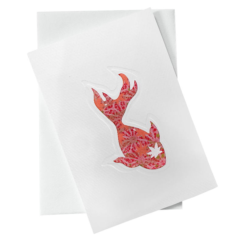 Cut Out Card (A6 - Fish_Orange and Red)