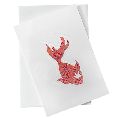 Cut Out Card (A6 - Fish_Orange and Red), Card, Kami - Kami
