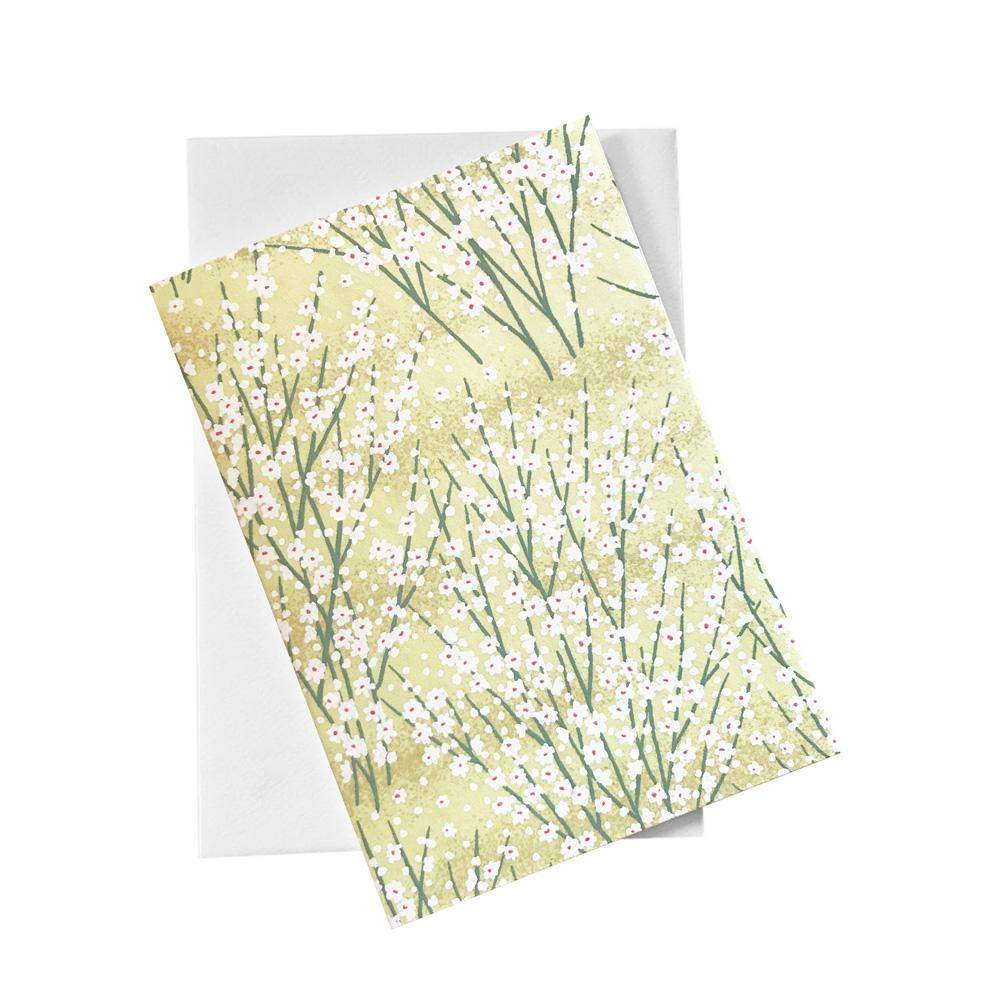 Classic Chiyogami Card (A6) - Grass