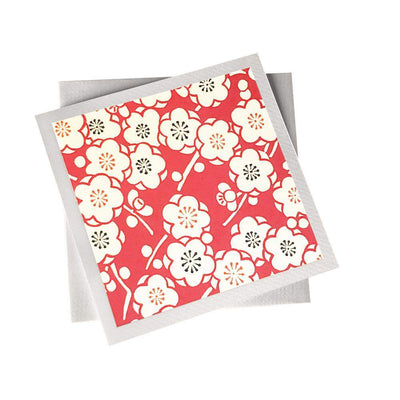 Ivory Card (155mm x 155mm) Blossoms, Card, Kami - Kami
