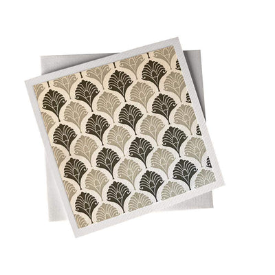 Ivory Card (155mm x 155mm) Brown Patterns, Card, Kami - Kami