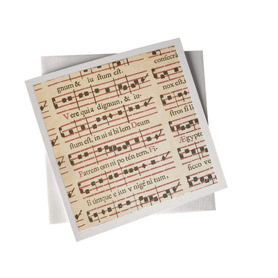 Ivory Card (155mm x 155mm) Musical Notes, Card, Kami - Kami