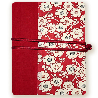 Art Wrap Spiral Unlined A5 (148mm x 210mm) - red blossoms, Journal, Kami - Kami