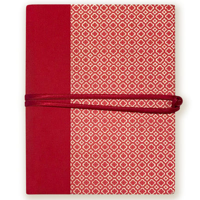 Art Wrap Spiral with Italian Insert Lined (265X220mm) - red dotted patterns, Journal, Kami - Kami