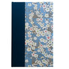 Art Ivory Hard Cover Journal (A5) - white flowers with light blue background, Journal, Kami - Kami
