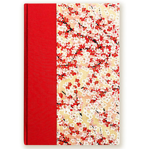 Art Ivory Hard Cover Journal (A5) - Red/Pink/White sakura