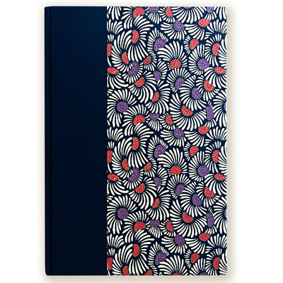 Art Ivory Hard Cover Journal (A5) - White/Orange/Purple - Kami Paper