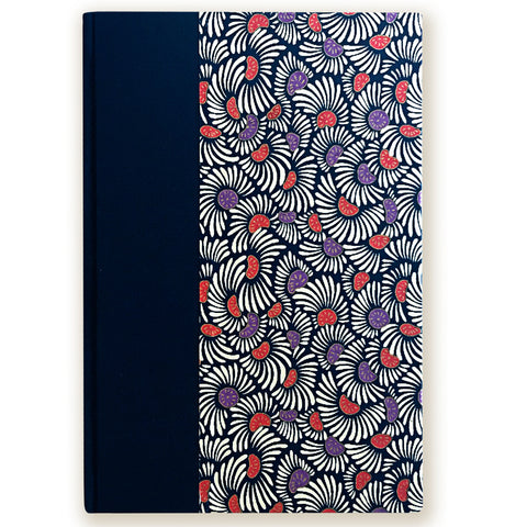 Art Ivory Hard Cover Journal (A5) - White/Orange/Purple