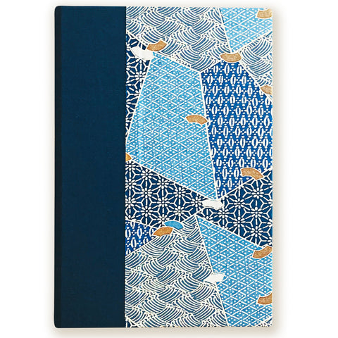 Art Ivory Hard Cover Journal (A5) -shades of blue