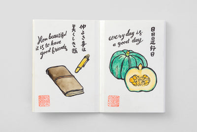 Midori | Traveler's Notebook | Refill | Passport | Watercolor Paper