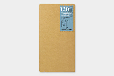 Midori | Traveler's Notebook | Refill | Regular | Kraft Paper Folder