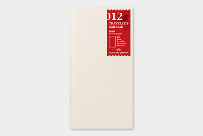 Midori | Traveler's Notebook | Refill | Regular | Sketch Paper