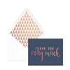 Designworks Ink | Thank You Note Card Box Set | Navy Copper