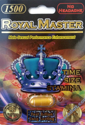 royal master 1500 male enhancement pill herbal