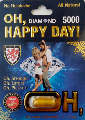 Oh Happy Day 5000 7 Days For Men Natural Libido Enhancer 3000mg Pill