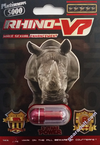 Rhino V7 Platinum 5000 Red Pill Male Enhancement