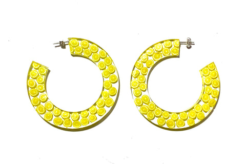 Lemon Hoop Earrings