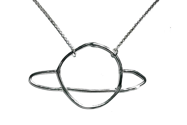 Doodle Saturn Necklace