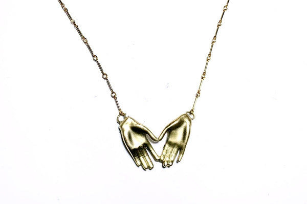 Lovely Hand Necklace