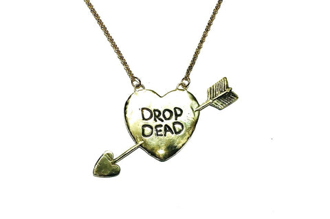 Reversible DROP DEAD//DM ME Necklace
