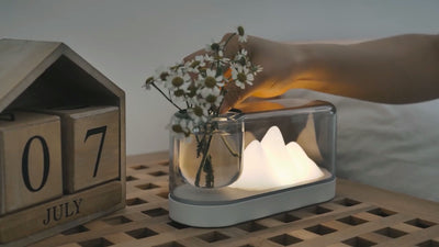 Color-changing Mountain Table Lamp