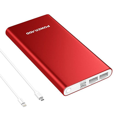 Red Power Bank With Lightning Input & Micro Input