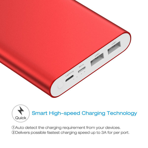 Poweradd Pliot 4GS Plus 3.6A Fast Charger Power Bank 2000mAh Portable Battery