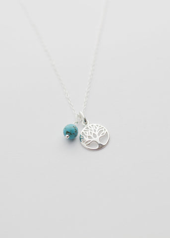 Tree of life, turquoise, silver jewellery tree