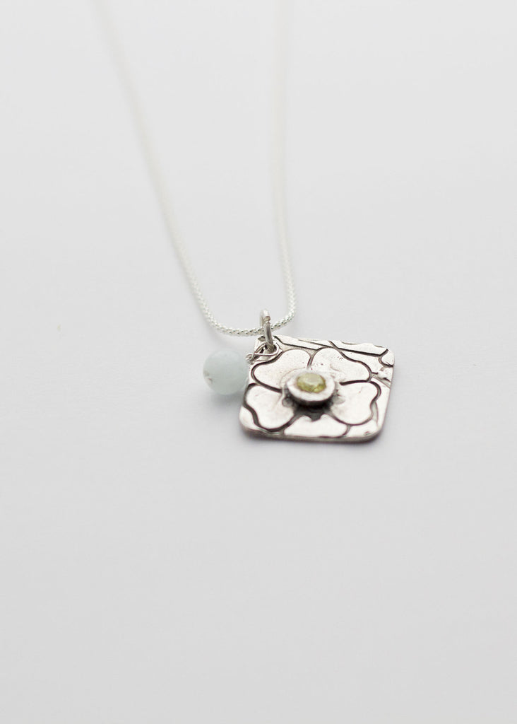 Textured flower silver jewellery, Mother's day gift