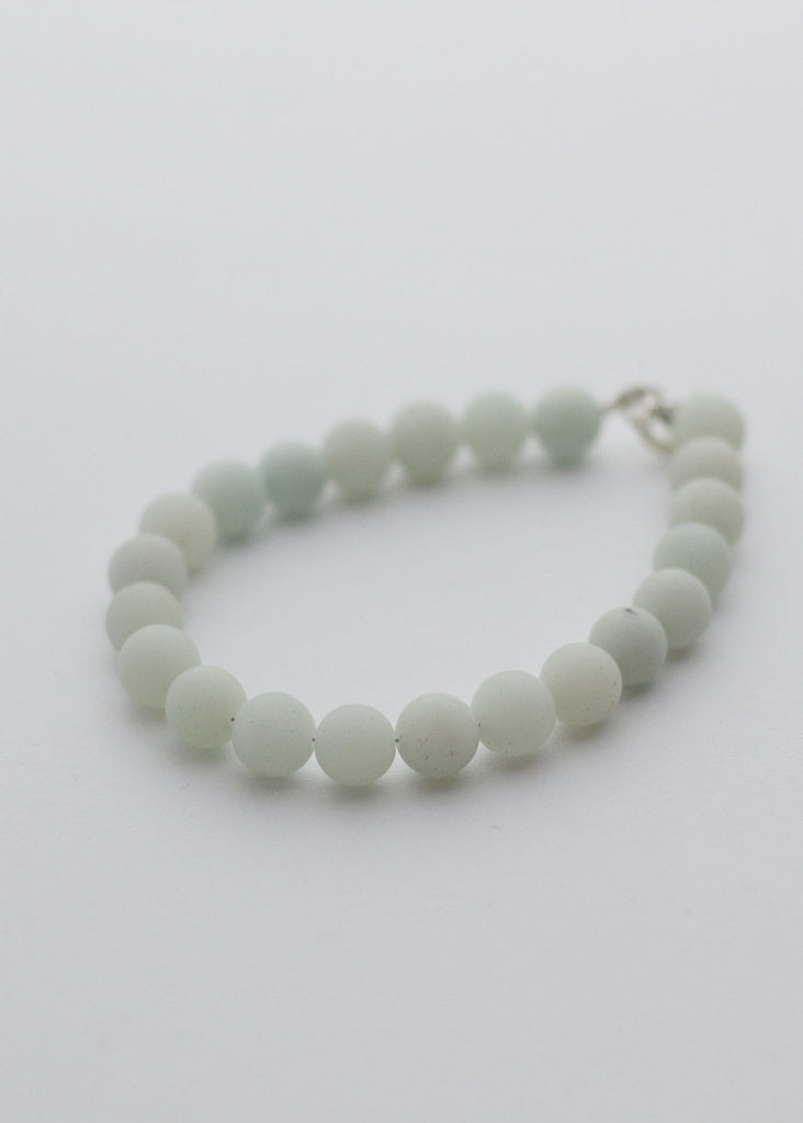 Natural Amazonite smooth beads Matt finish - Carline Perulla