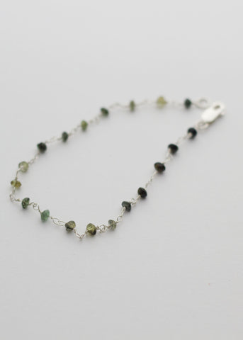 Natural Tourmaline beads Bracelet in Sterling silver wire - Carline Perulla