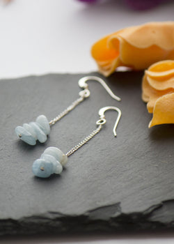 Natural Aquamarine gemstone earrings - Carline Perulla