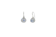 Simple Drop Gem Sterling Silver Earrings