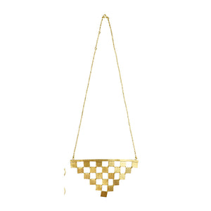 Euro Gold Geo Link Necklace A8