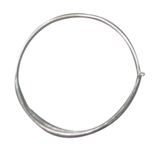 Euro Silver Split Hoop Earrings C3