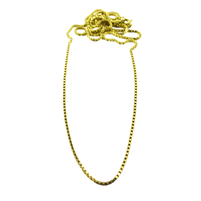 Solid Brass Box Chain 50cm