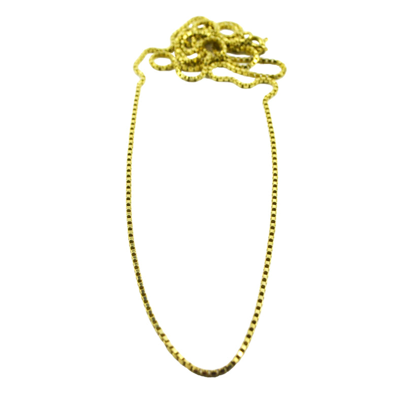 Solid Brass Box Chain 70cm