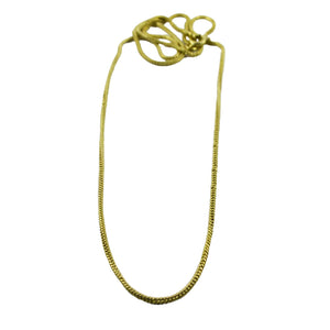 Solid Brass Snake Chain 70cm