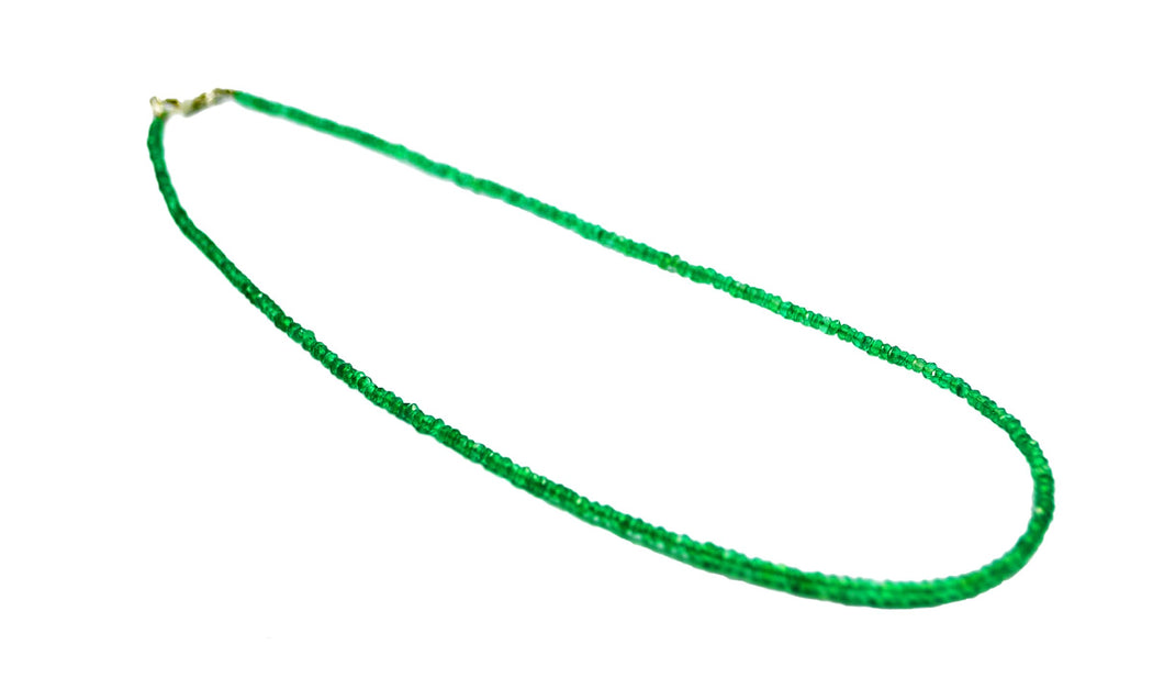 Faceted Green Onyx Necklace 45cm, 3mm