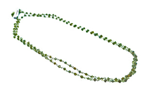 Faceted Laboradorite Chain Necklace 90cm,  3mm -